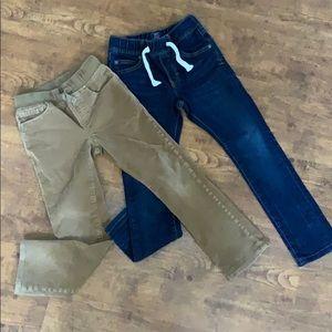 Gap boys elastic corduroy jeans bundle sz small